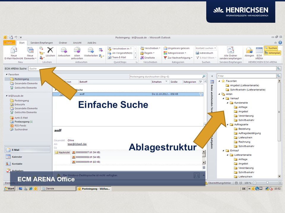 ARENA Smartbox Kann als Dropzone mit oder ohne anschließender automatischer Klassifizierung verwendet werden.