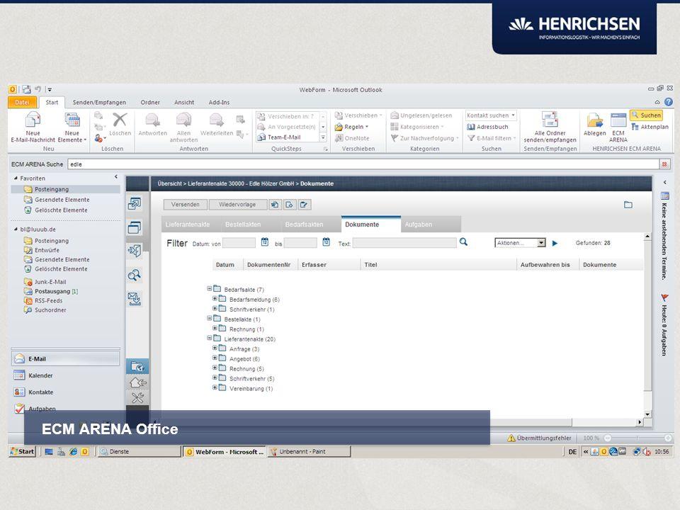ARENA Smartbox Kann mit eingeblendetem Aktenplan vollständig und intuitiv per Drag&Drop klassifizieren.