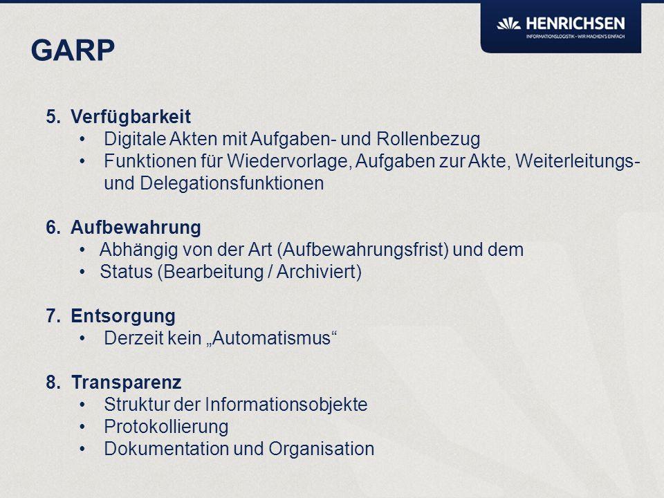 GARP Umsetzung der 8 Grundprinzipien