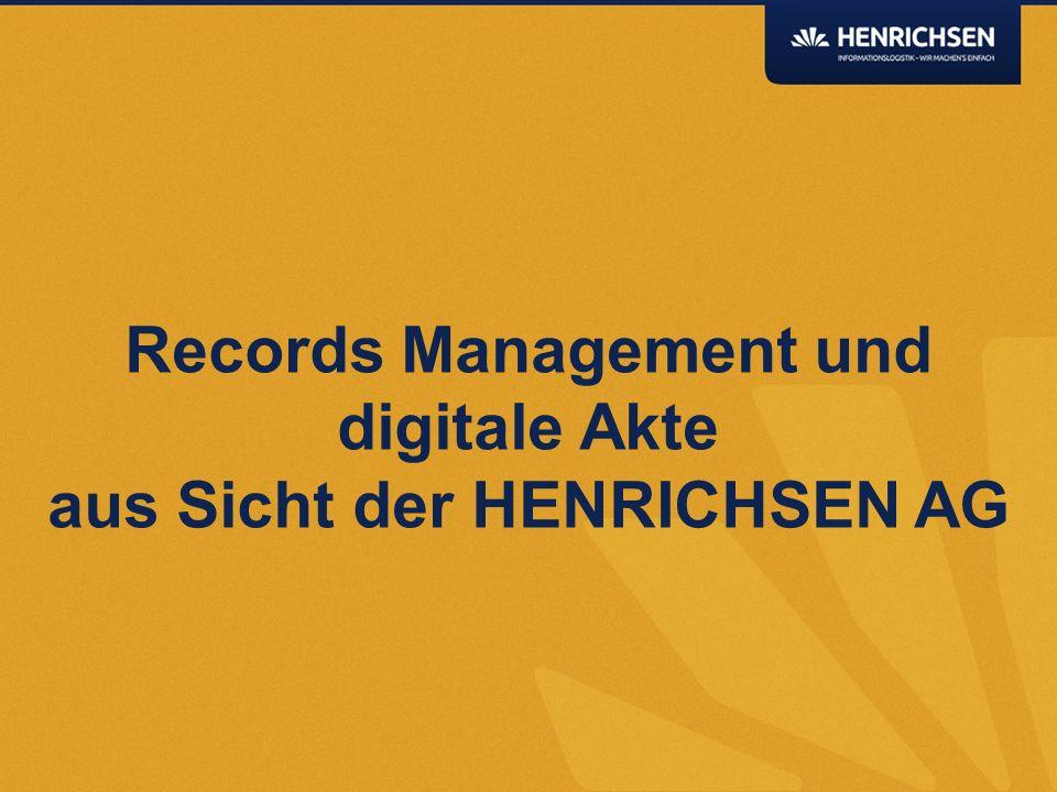 Was macht HENRICHSEN Seit 30 Jahren führender Lösungslieferant kaufmännischer Geschäftsprozesse und digitaler Aktenlösungen.