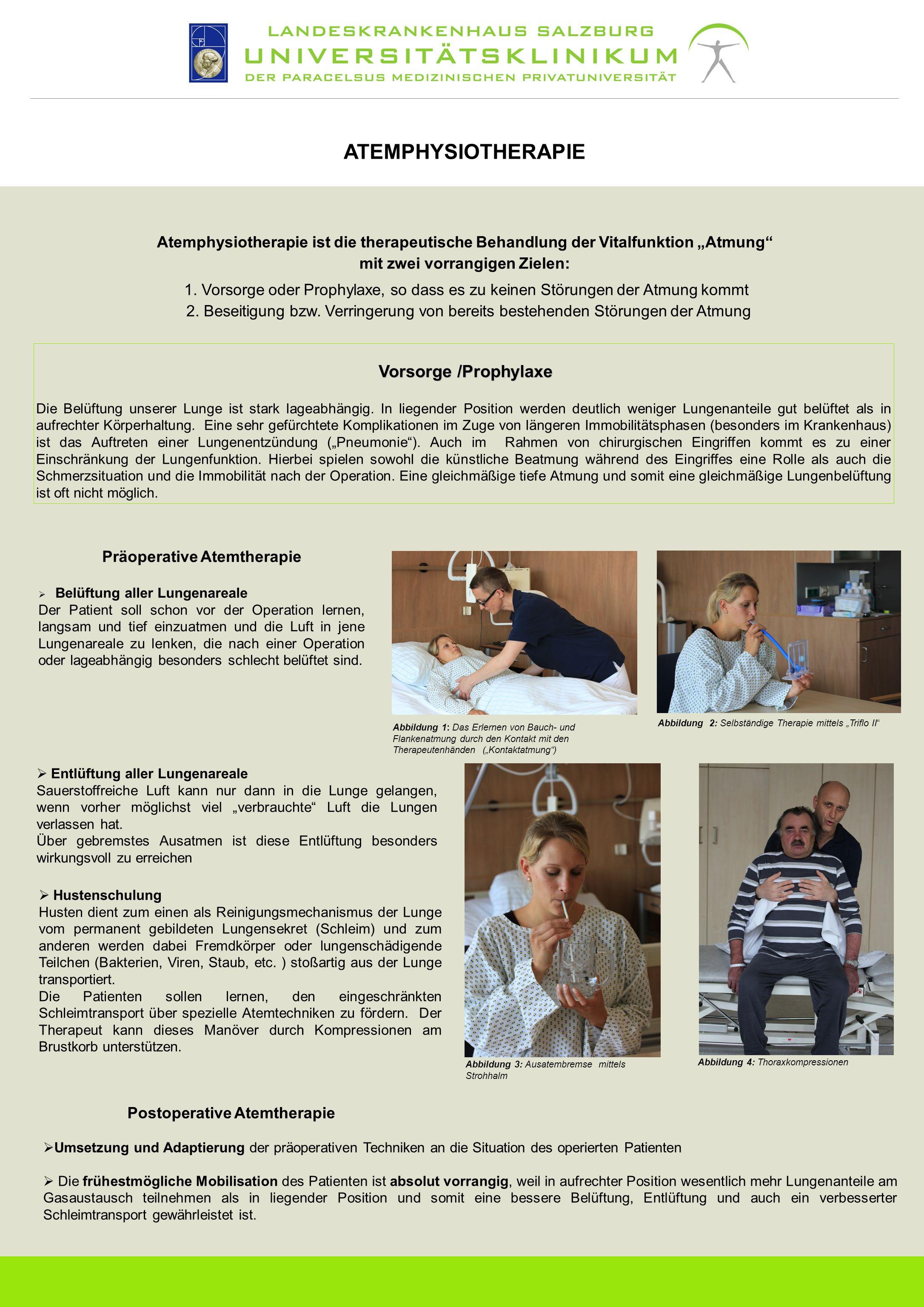 mit zwei vorrangigen Zielen: Präoperative Atemtherapie