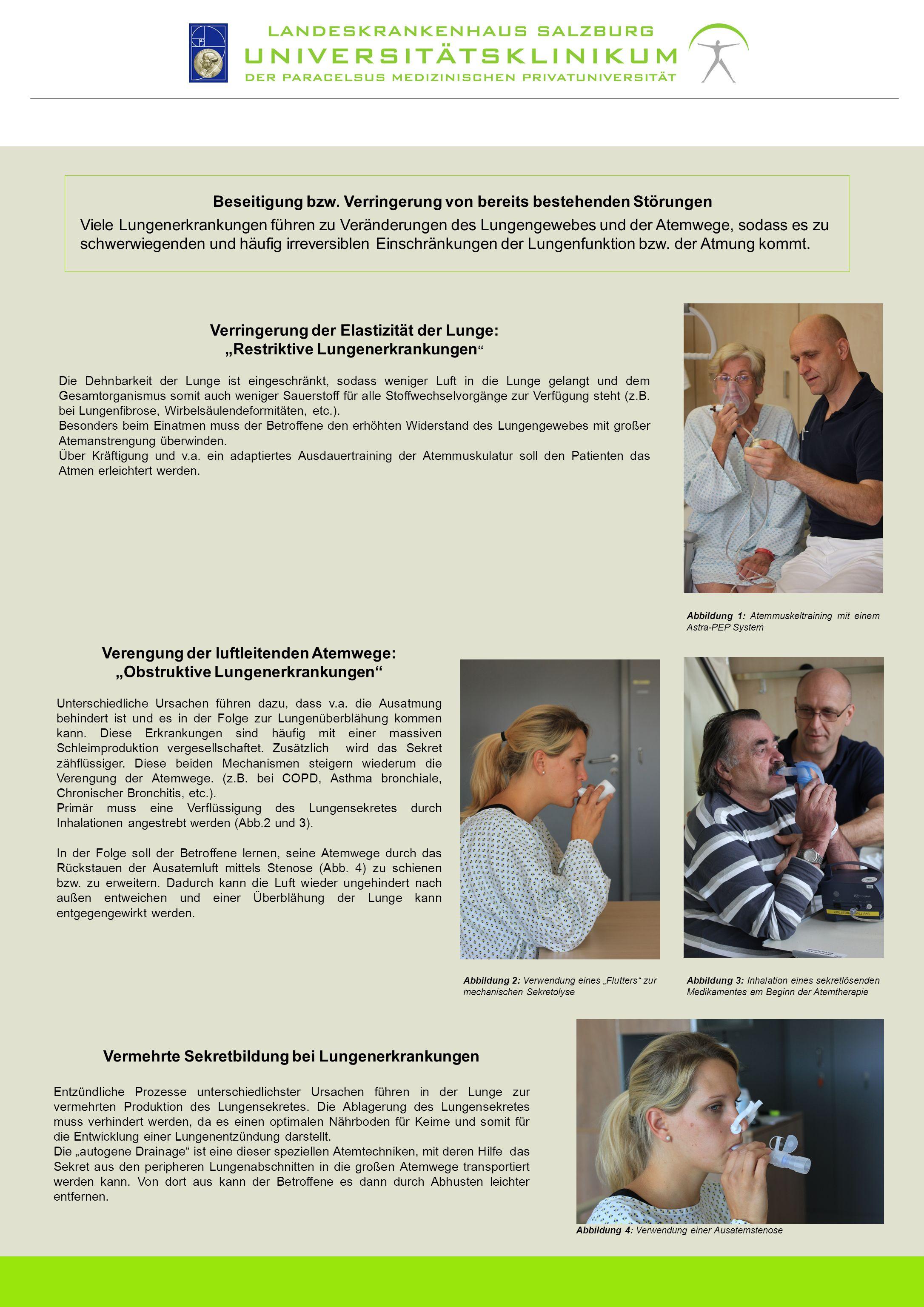 Beseitigung bzw. Verringerung von bereits bestehenden Störungen