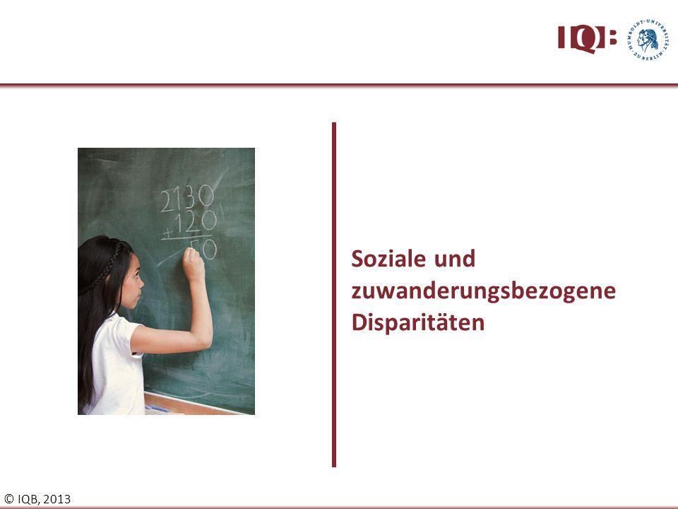 Soziale und zuwanderungsbezogene Disparitäten