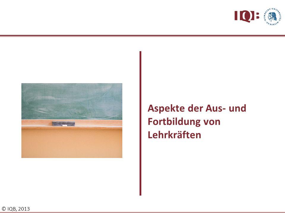 Aspekte der Aus- und Fortbildung von Lehrkräften