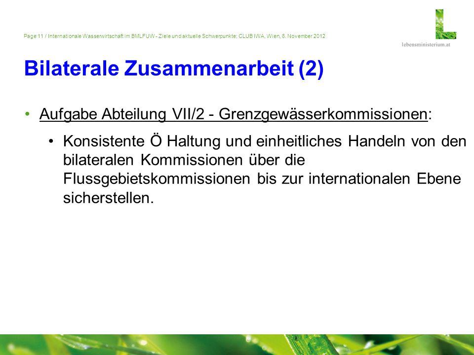 Bilaterale Zusammenarbeit (2)