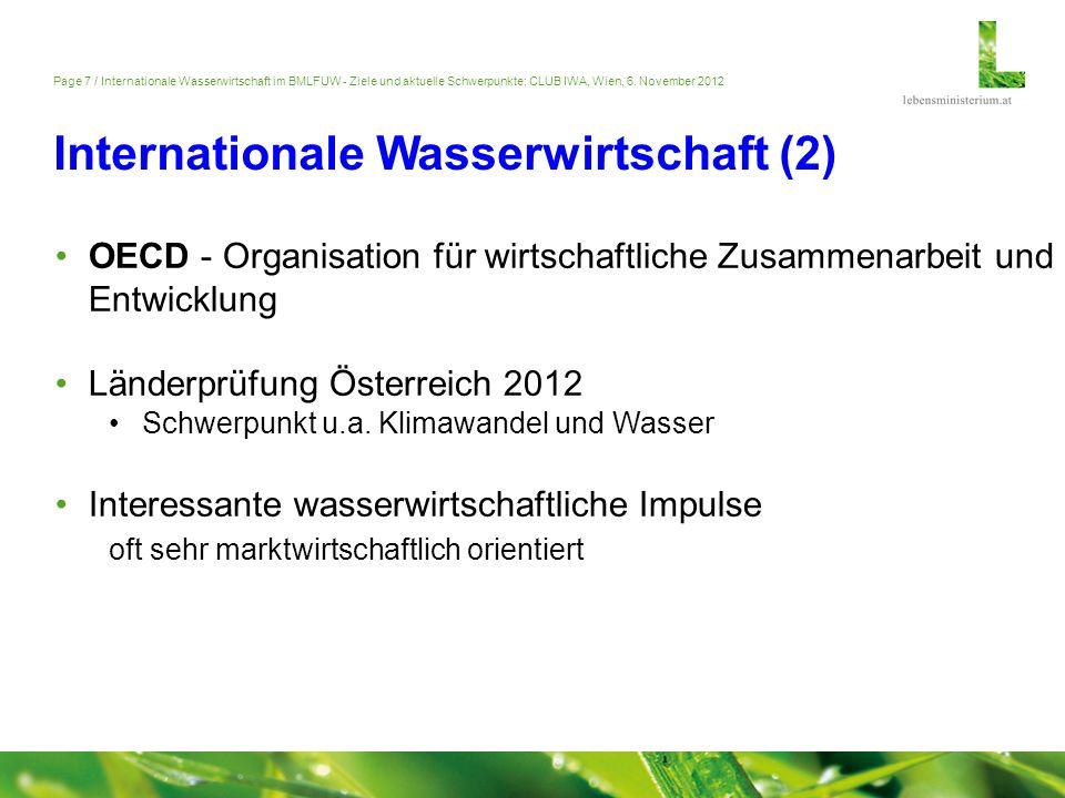 Internationale Wasserwirtschaft (2)
