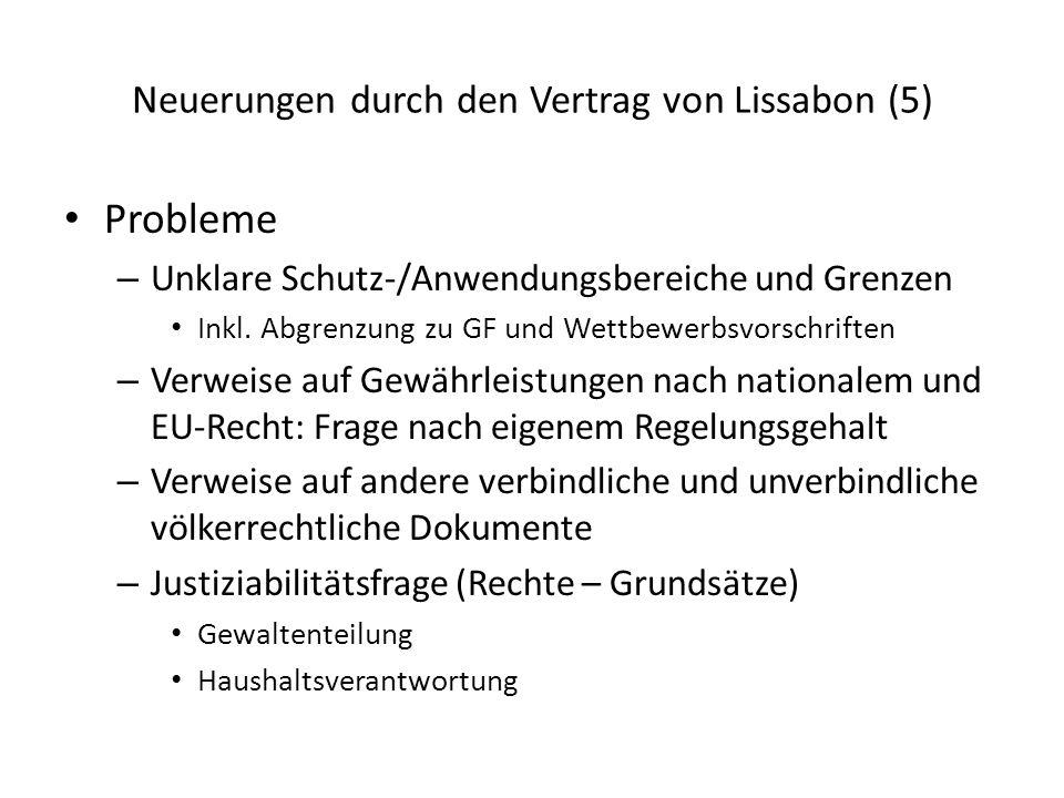 Neuerungen durch den Vertrag von Lissabon (5)