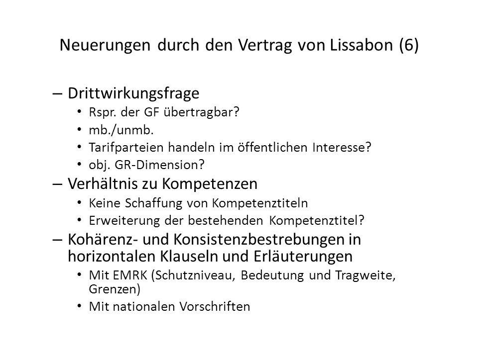 Neuerungen durch den Vertrag von Lissabon (6)
