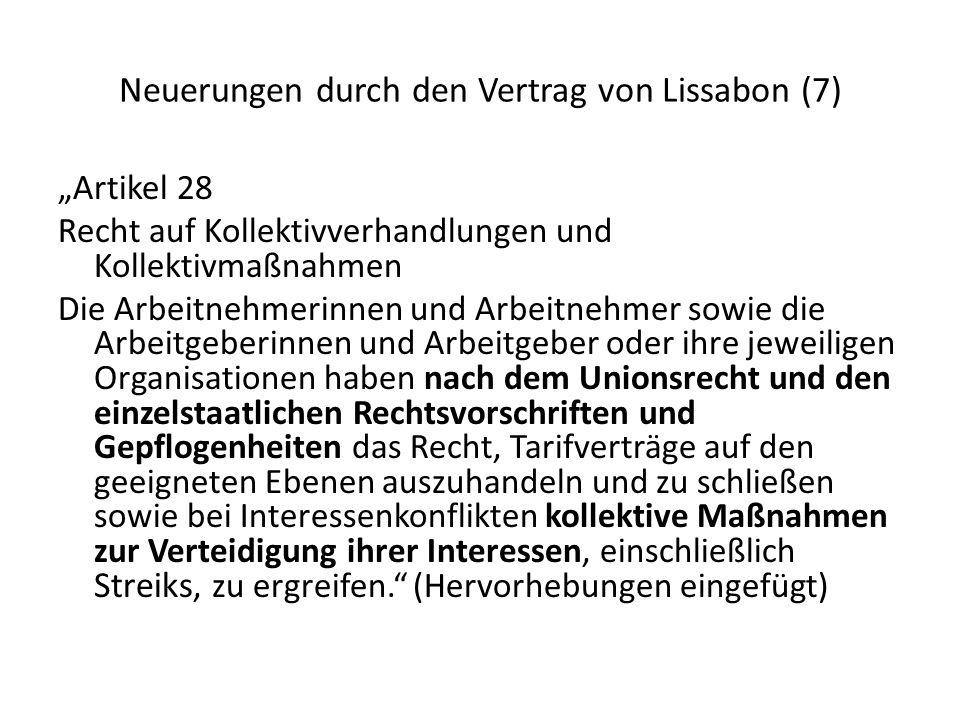 Neuerungen durch den Vertrag von Lissabon (7)