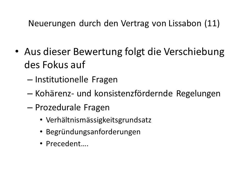 Neuerungen durch den Vertrag von Lissabon (11)