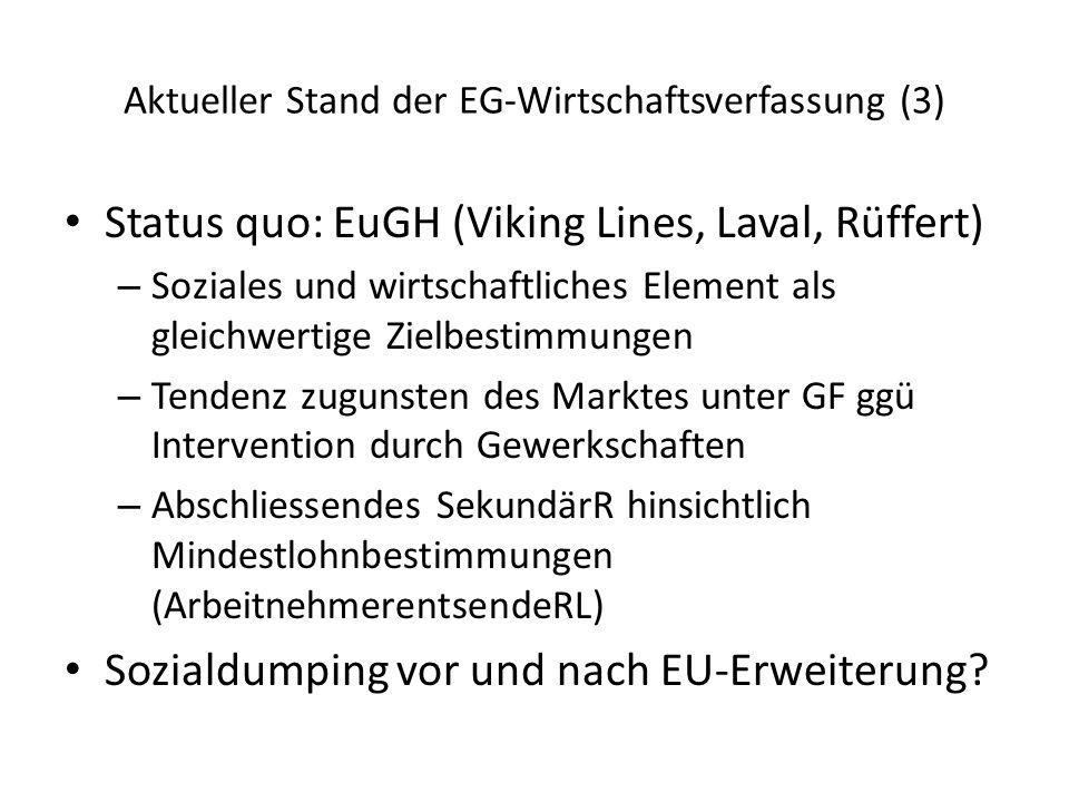 Aktueller Stand der EG-Wirtschaftsverfassung (3)