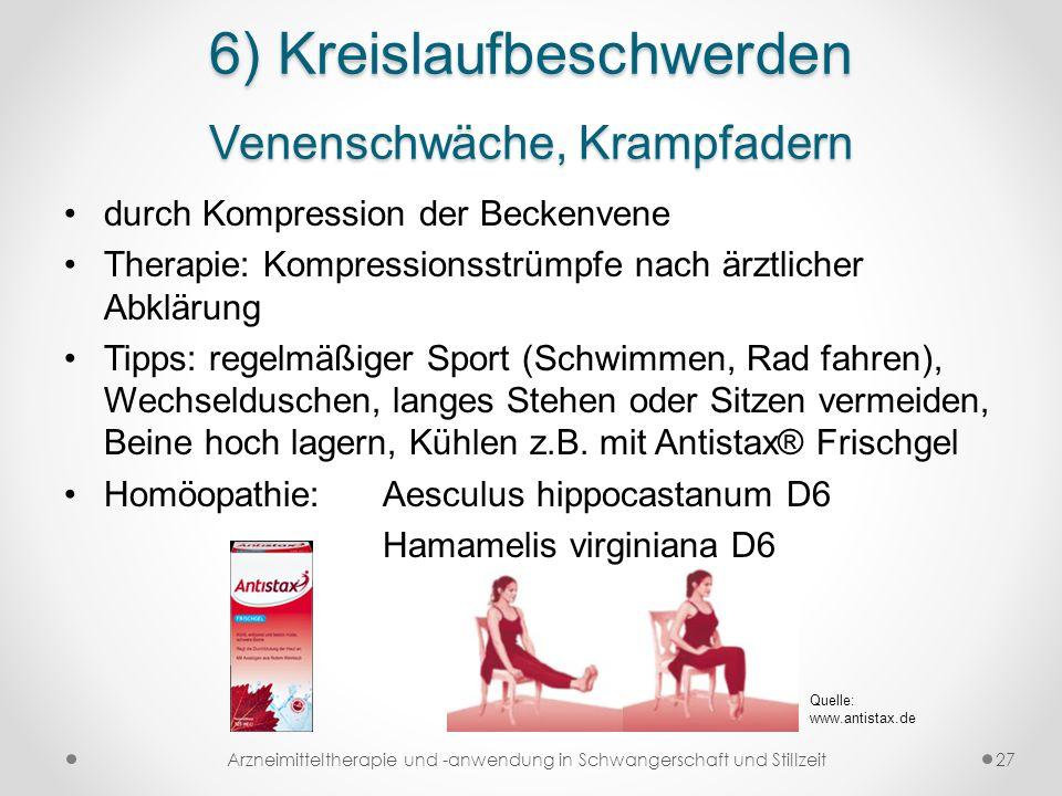 6) Kreislaufbeschwerden Venenschwäche, Krampfadern