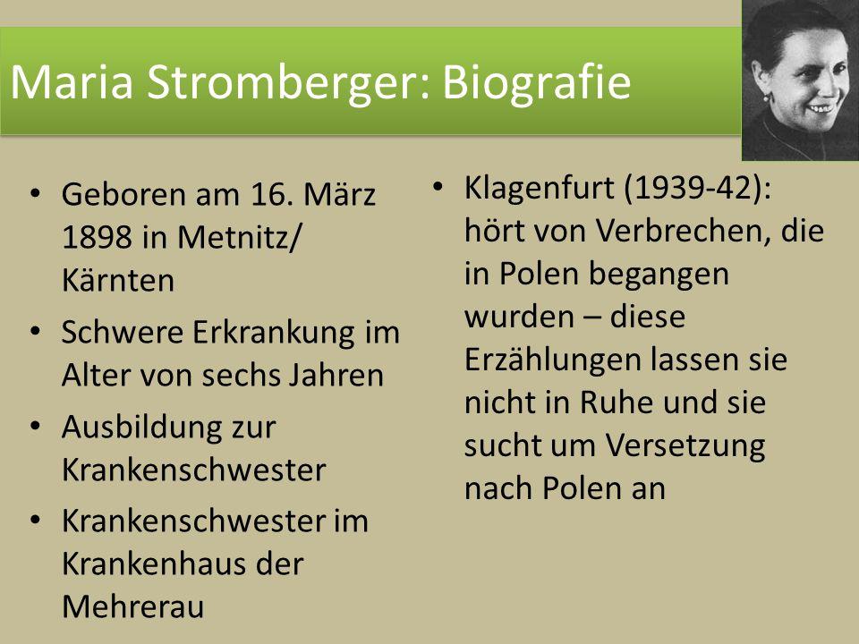 Maria Stromberger: Biografie