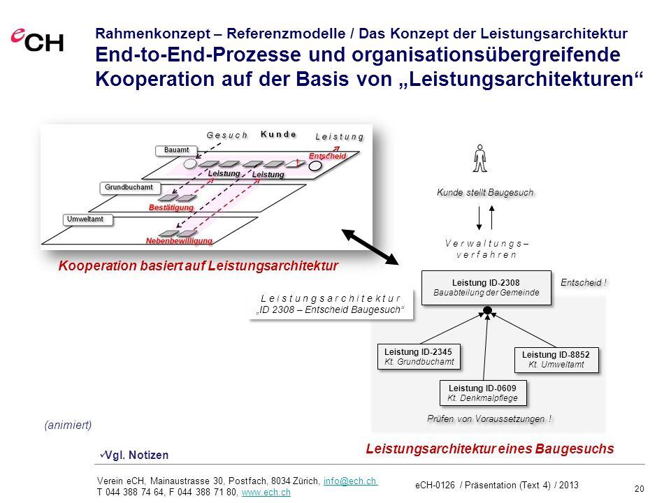 """Rahmenkonzept – Referenzmodelle / Das Konzept der Leistungsarchitektur End-to-End-Prozesse und organisationsübergreifende Kooperation auf der Basis von """"Leistungsarchitekturen"""