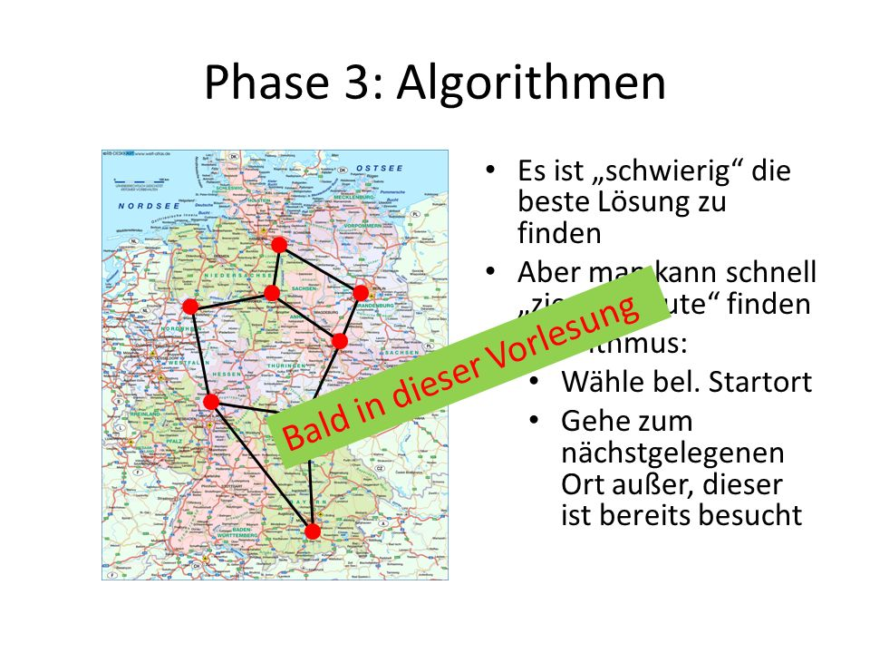 Phase 3: Algorithmen Bald in dieser Vorlesung