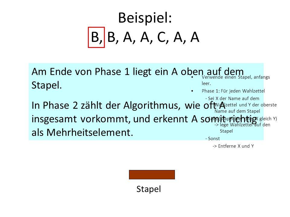 Beispiel: B, B, A, A, C, A, A C A A A A B B