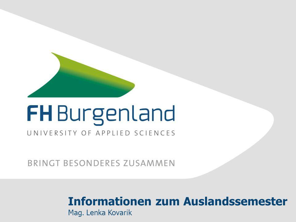 Informationen zum Auslandssemester