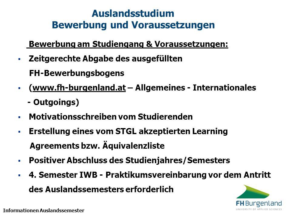 Auslandsstudium Bewerbung und Voraussetzungen