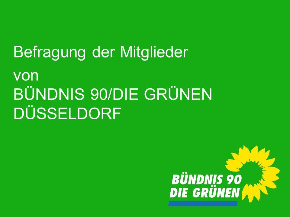 Befragung der Mitglieder von BÜNDNIS 90/DIE GRÜNEN DÜSSELDORF