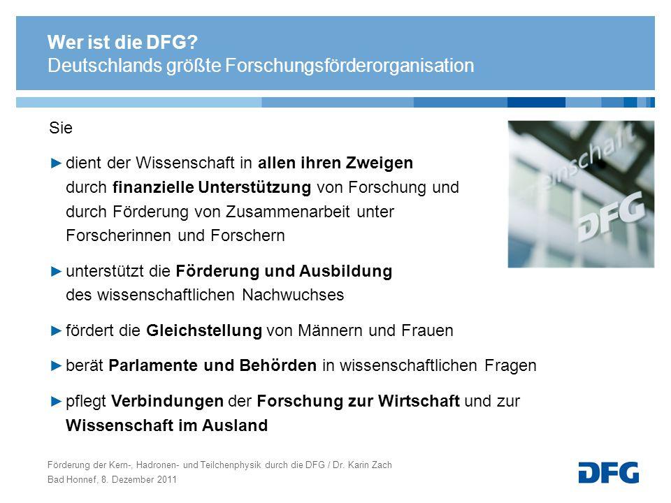 Deutschlands größte Forschungsförderorganisation