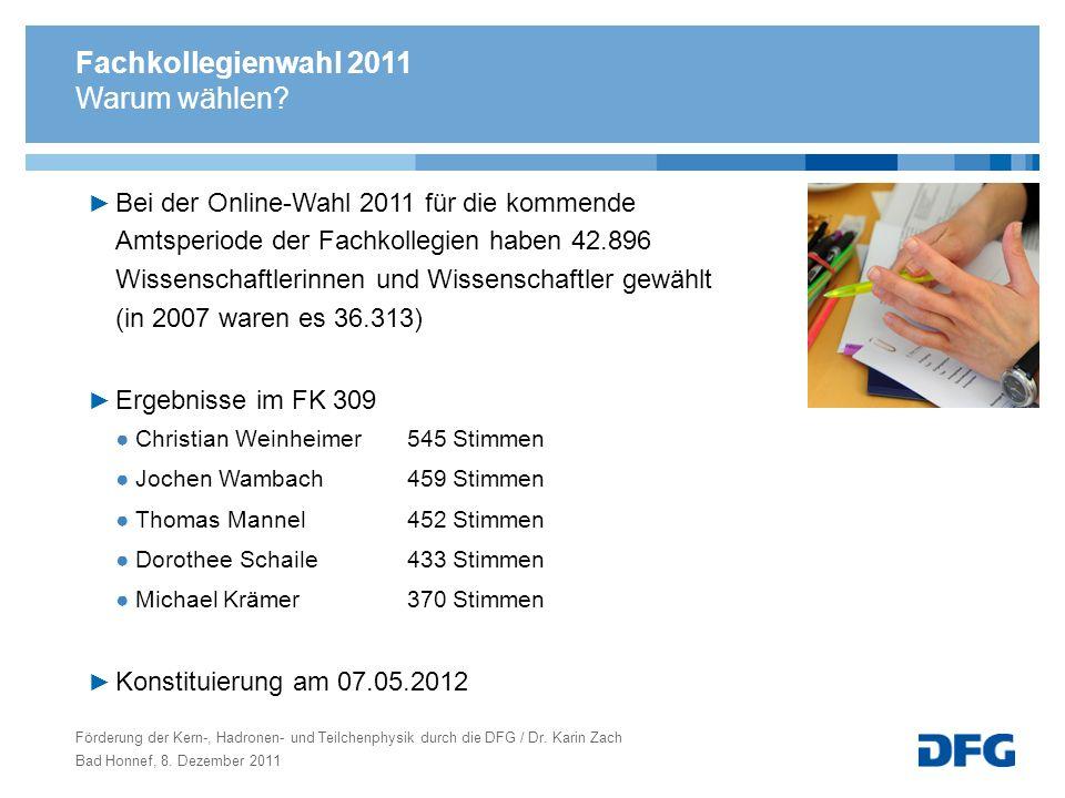 Fachkollegienwahl 2011 Warum wählen