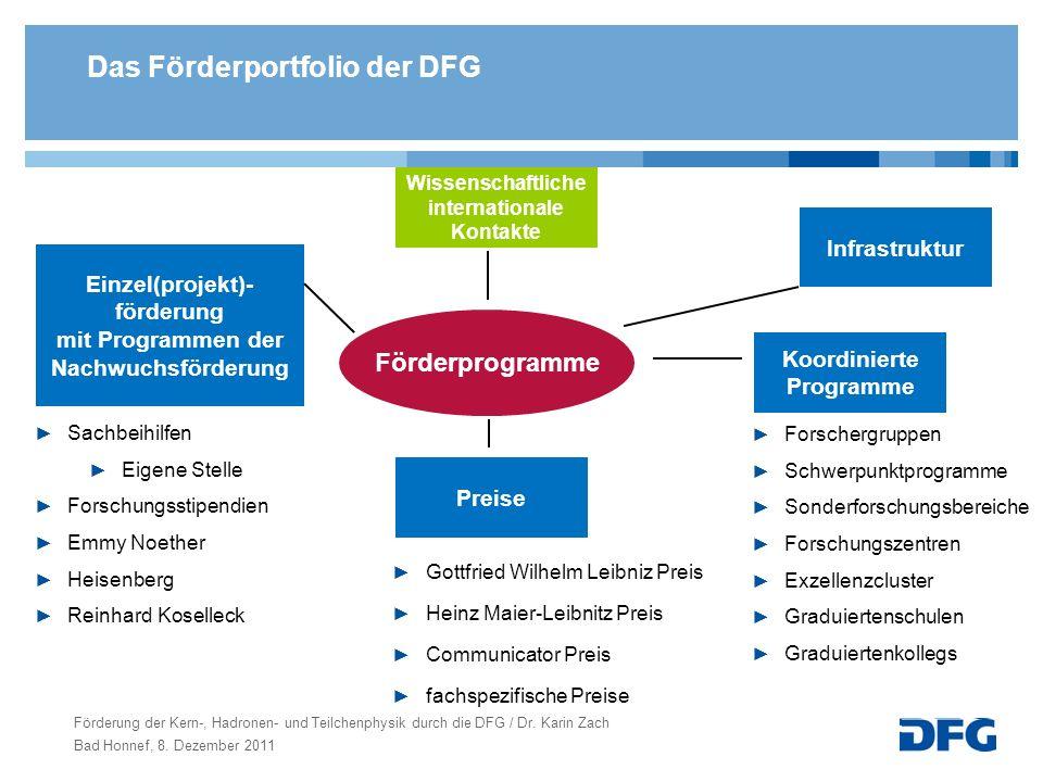 Das Förderportfolio der DFG
