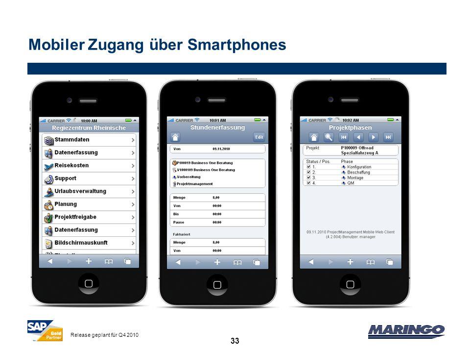 Mobiler Zugang über Smartphones