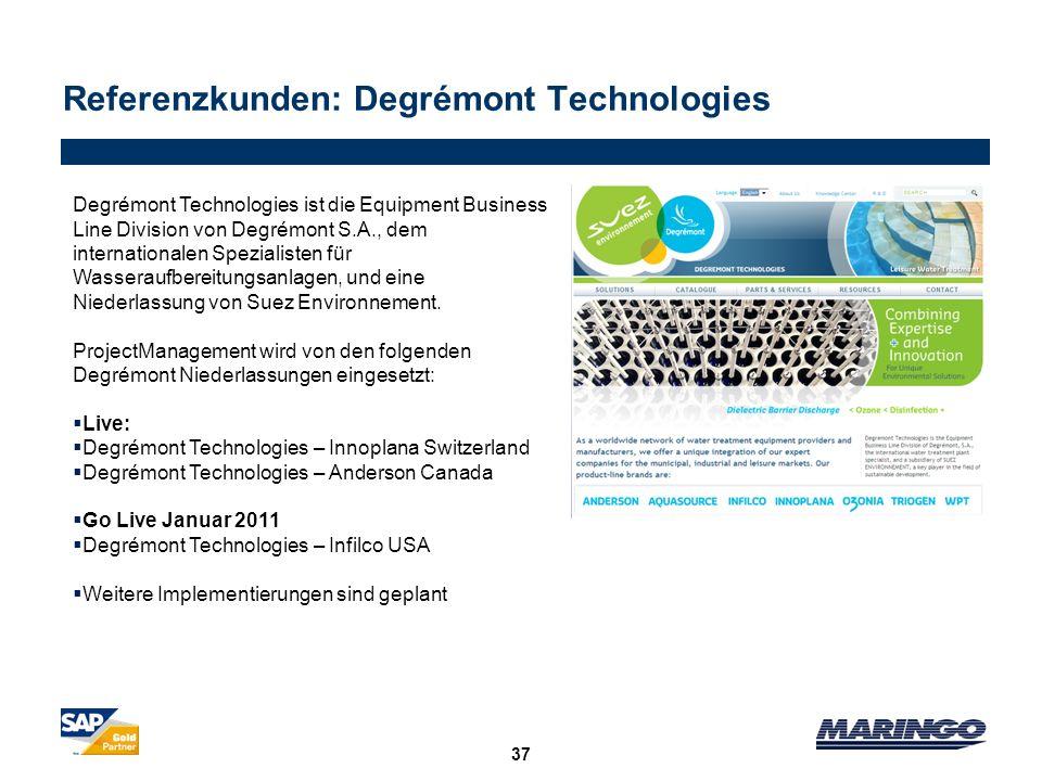 Referenzkunden: Degrémont Technologies