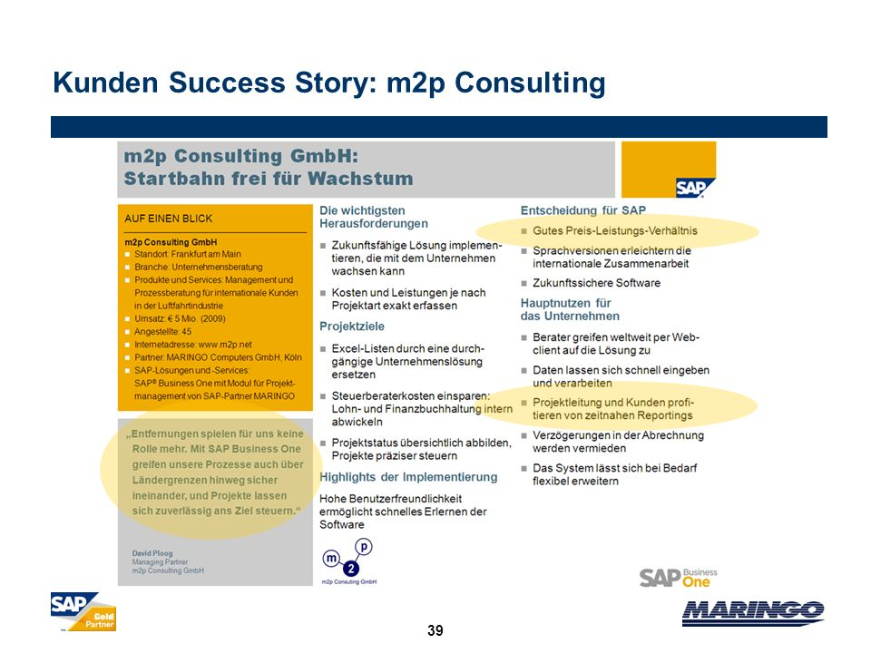 Kunden Success Story: m2p Consulting
