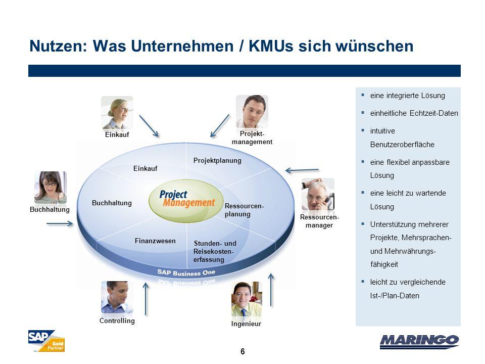 Nutzen: Was Unternehmen / KMUs sich wünschen