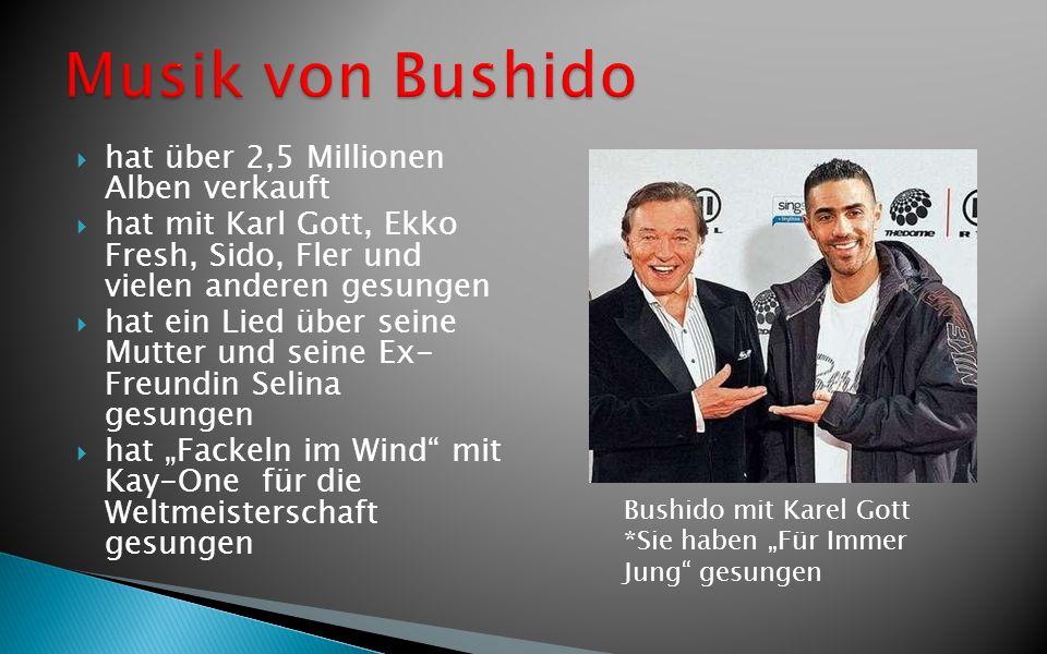 Musik von Bushido hat über 2,5 Millionen Alben verkauft