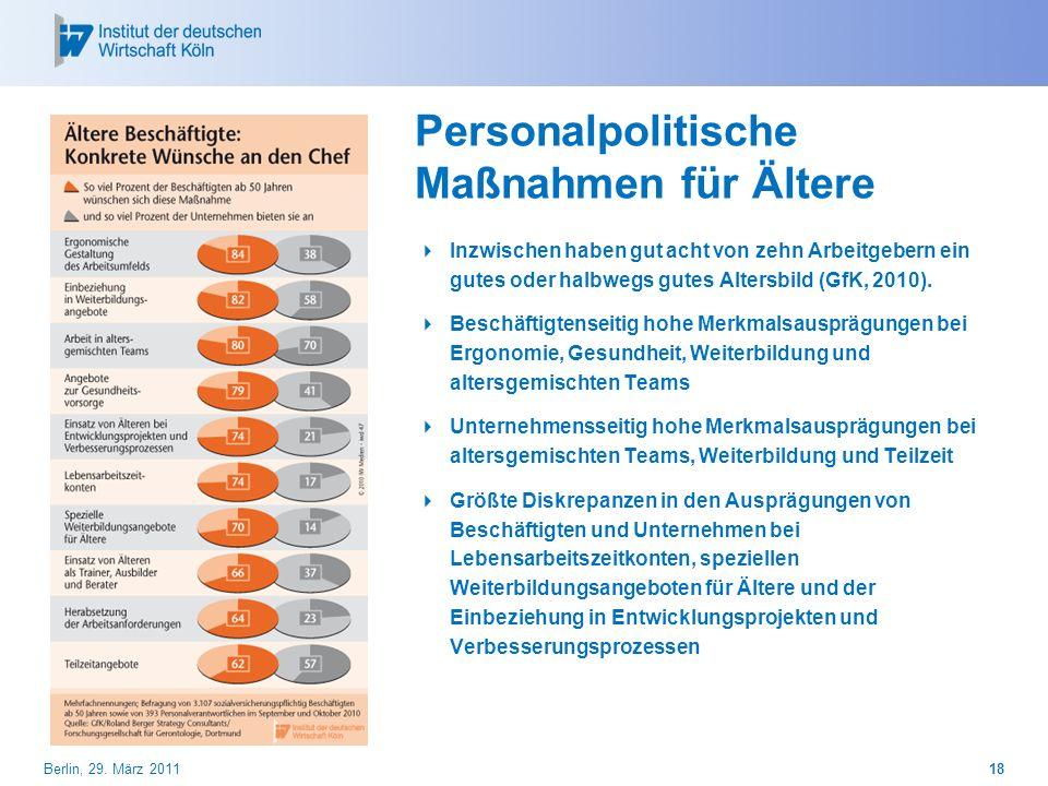 Personalpolitische Maßnahmen für Ältere