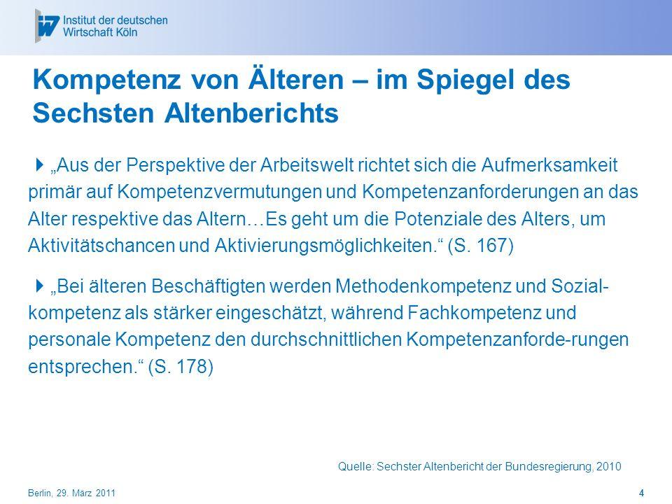 Kompetenz von Älteren – im Spiegel des Sechsten Altenberichts