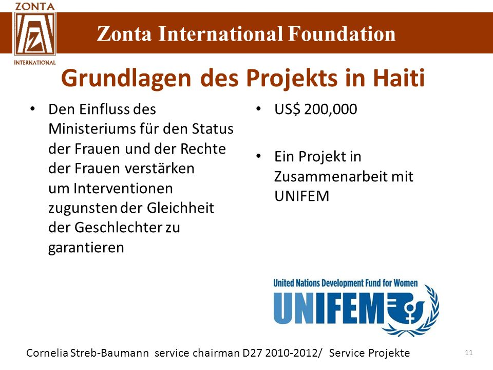 Grundlagen des Projekts in Haiti