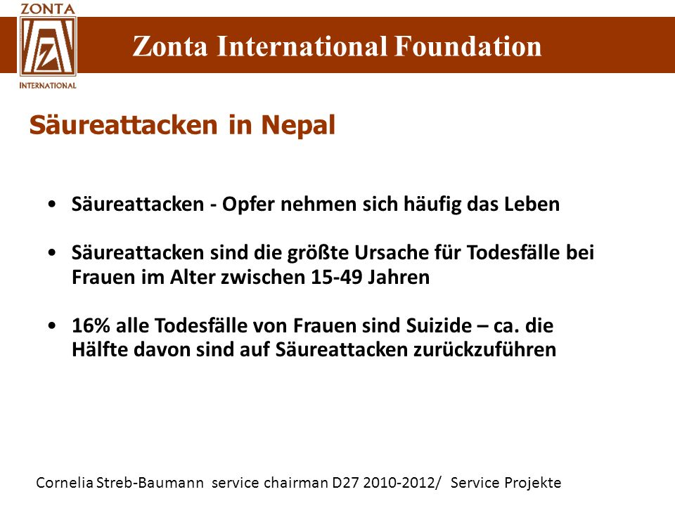 Säureattacken in Nepal