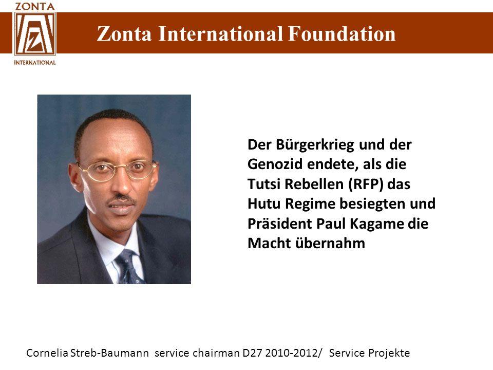 Der Bürgerkrieg und der Genozid endete, als die Tutsi Rebellen (RFP) das Hutu Regime besiegten und Präsident Paul Kagame die Macht übernahm