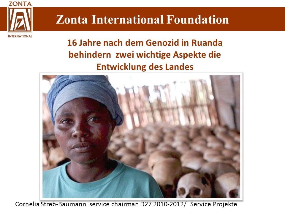 16 Jahre nach dem Genozid in Ruanda behindern zwei wichtige Aspekte die Entwicklung des Landes