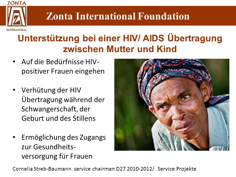 Unterstützung bei einer HIV/ AIDS Übertragung zwischen Mutter und Kind
