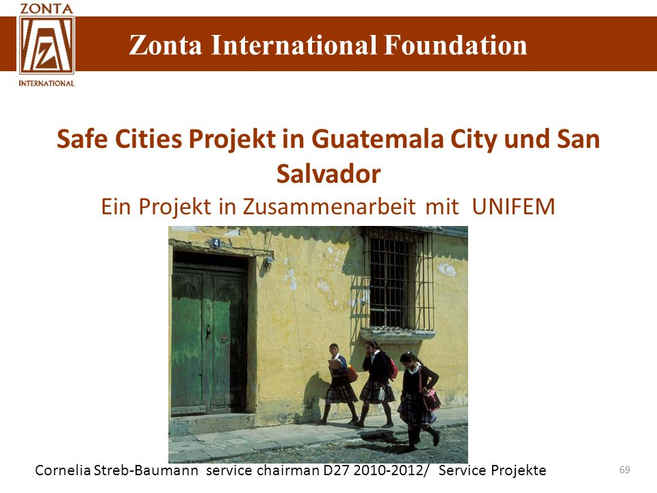 Safe Cities Projekt in Guatemala City und San Salvador