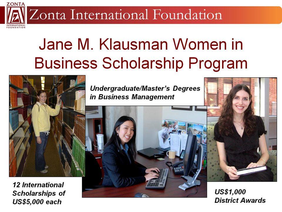 Jane M. Klausman Women in Business Scholarship Program