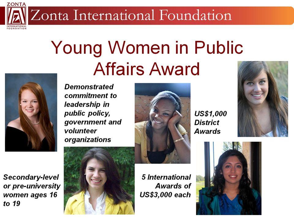 Young Women in Public Affairs Award
