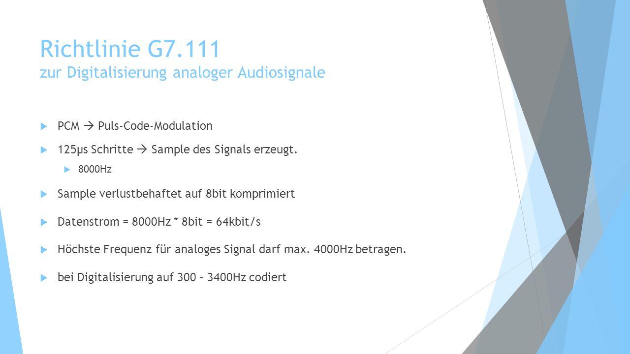 Richtlinie G7.111 zur Digitalisierung analoger Audiosignale