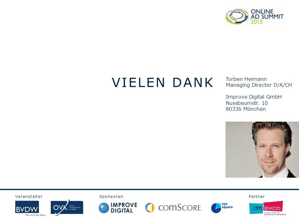 VIELEN DANK Torben Heimann Managing Director D/A/CH