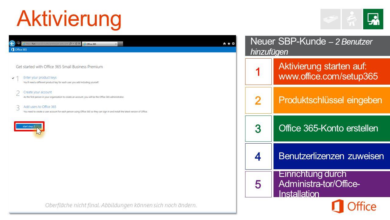 Aktivierung 1 2 3 4 5 Neuer SBP-Kunde – 2 Benutzer hinzufügen