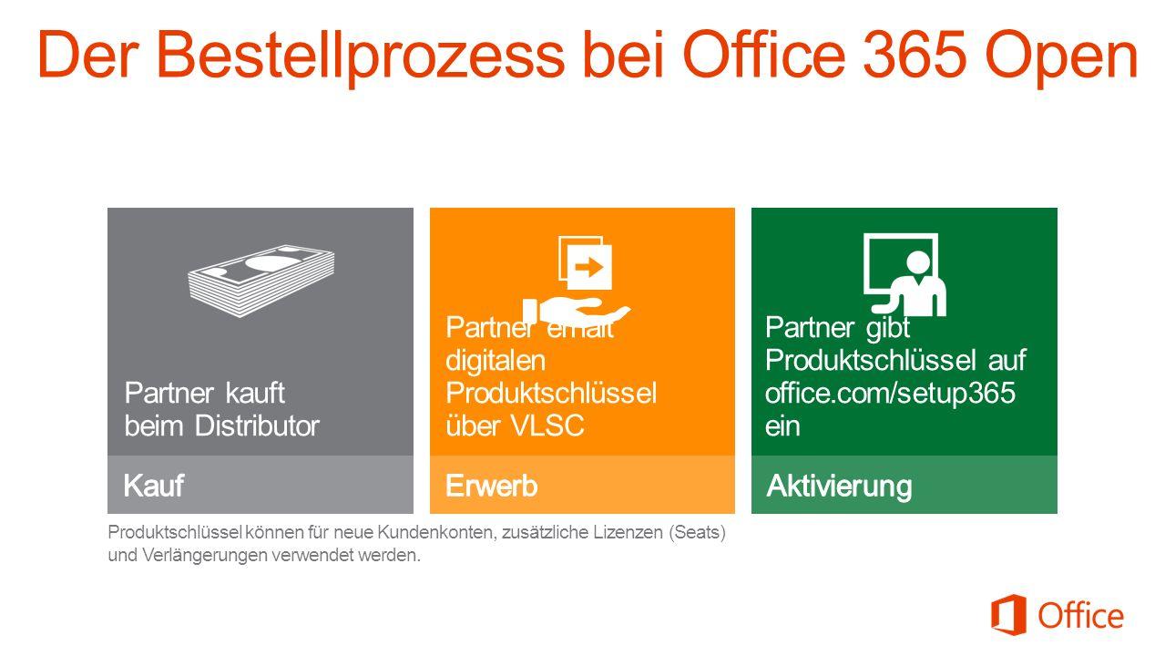 Der Bestellprozess bei Office 365 Open