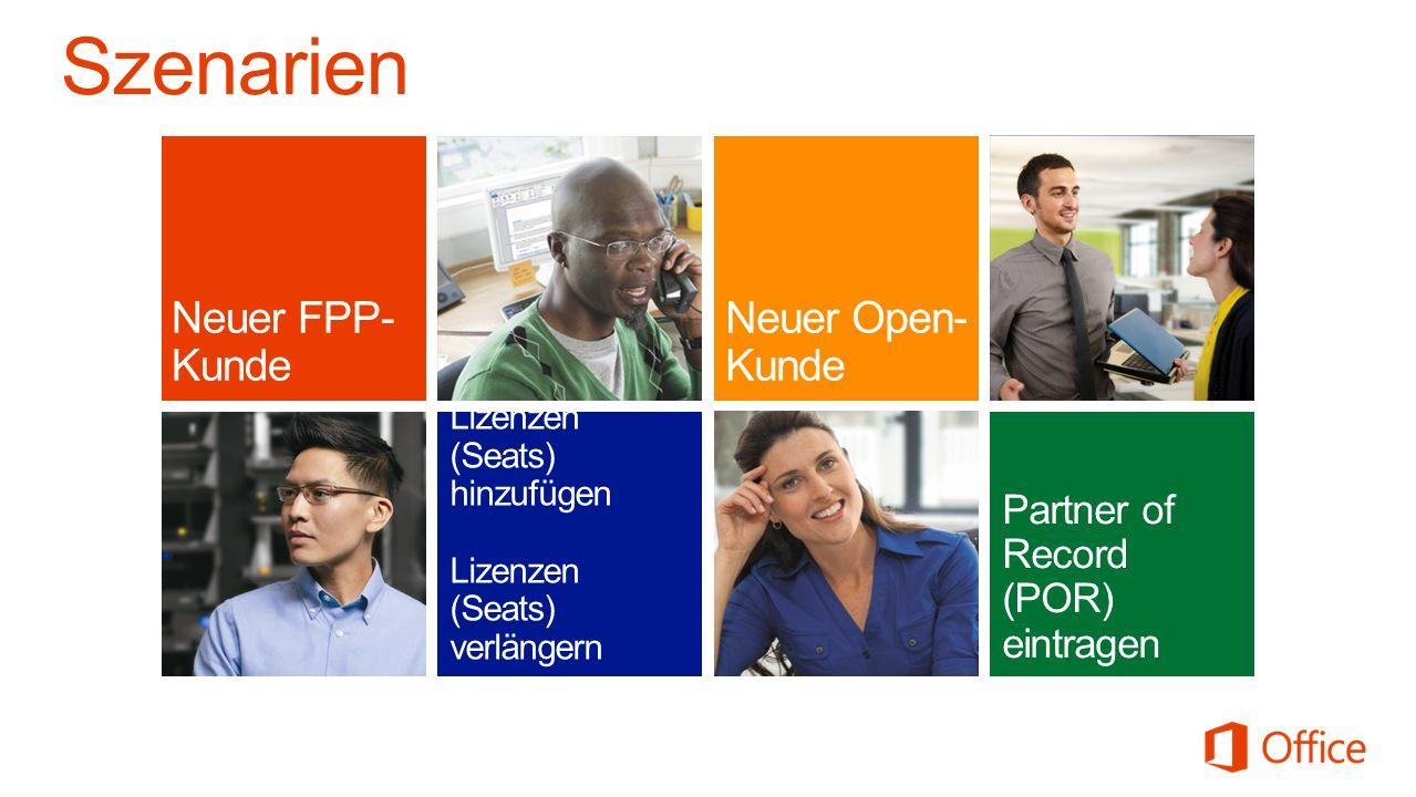 Szenarien Neuer FPP-Kunde Neuer Open-Kunde