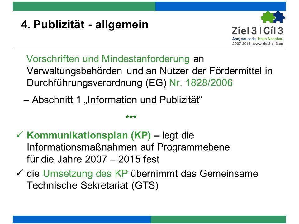 4. Publizität - allgemein