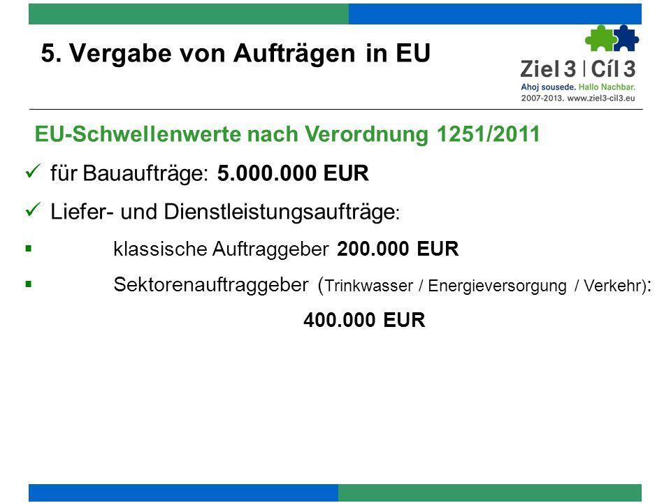 5. Vergabe von Aufträgen in EU