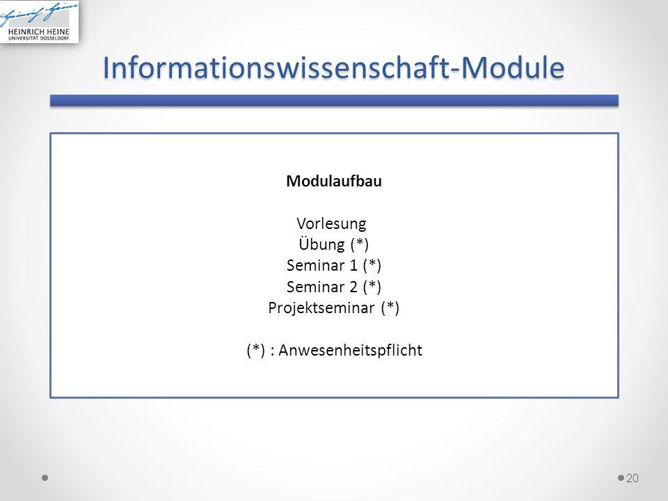 Informationswissenschaft-Module