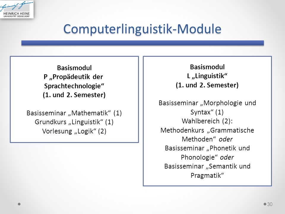 Computerlinguistik-Module